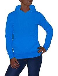 S&LU angesagter Damen Kapuzen-Pulli mit Känguru-Tasche in super Farben Größe S - XXL