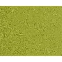 1 METRO de Polipiel para tapizar, manualidades, cojines o forrar objetos. Venta de polipiel por metros. Diseño Beckham Color Verde Manzana ancho 140cm