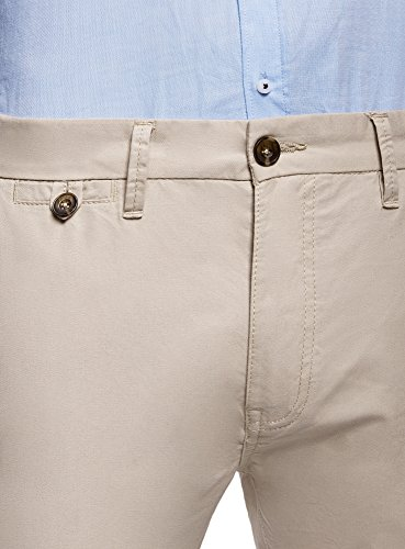 oodji Ultra Uomo Pantaloni Basic Chino Beige (3300N)