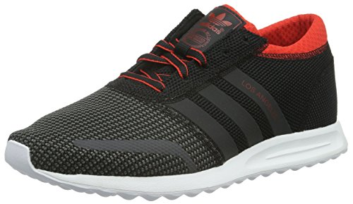 Adidas Los Angeles, Low-Top Sneaker, Schwarz (Core Black/Dgh Solid Grey/Red), 42 EU