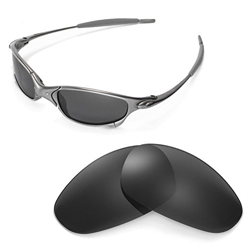 Walleva Ersatzgläser für Oakley Juliet Sonnenbrille - Mehrfache Optionen (Schwarz - polarisiert)