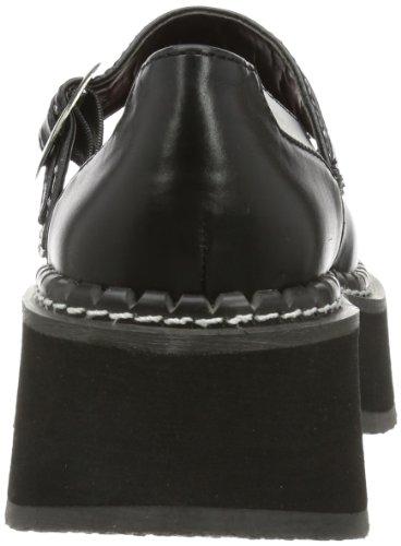 Demonia Emily-221 Scarpe Da Barca Da Donna Nere (blk Vegan Leather)