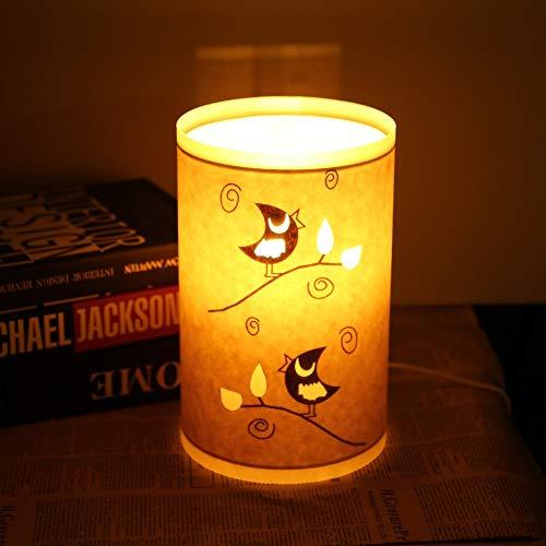 OUSENR Tischleuchte Pergament Tischleuchte Hohlen Geschnitzten Blumen Lampenschirm Art Decor Light...