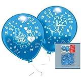 Luftballons Its a boy, 10 Stück, blau