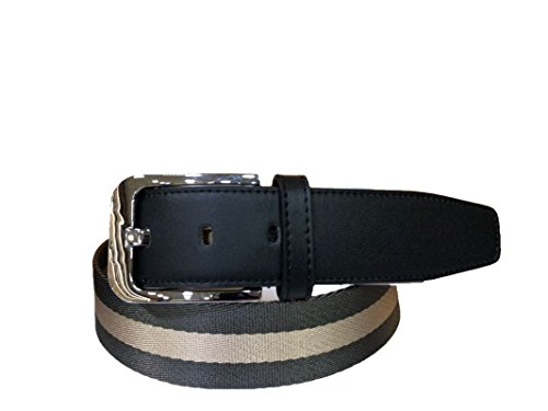 Leather belt (Genuine Leather) with alloy buckle for both formal cum casual wear (Fully Ribbed pattern) from Thuglook