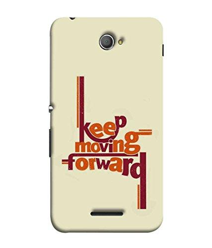 Printfidaa Sony Xperia E4, Sony Xperia E4 Dual Back Cover Keep Moving Forward Printed Designer Back Case