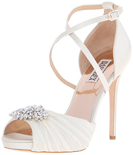 Badgley Mischka Cacique Satin Sandales Ivoire