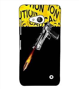 Fuson Designer Back Case Cover for Microsoft Lumia 550 (A gun and bullete theme)