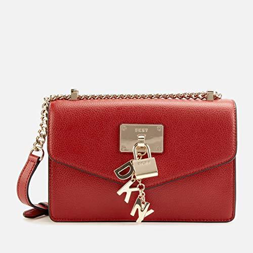 DKNY Elissa Sac porté épaule Rouge foncé
