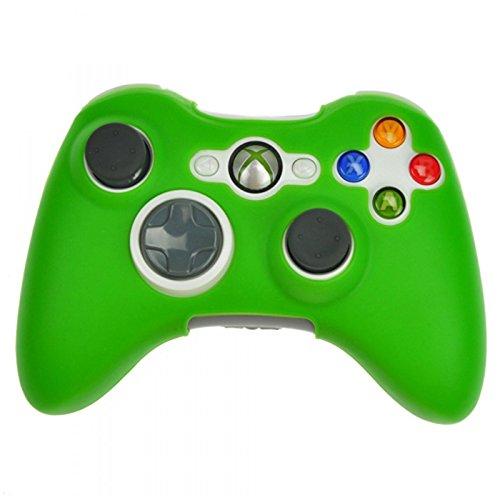 HDE Silikon-Schutzhülle für Xbox 360 Controller, gummiert, für Microsoft Xbox 360 verkabelte und kabellose Gamepads Telefon-Schutzfolie grün