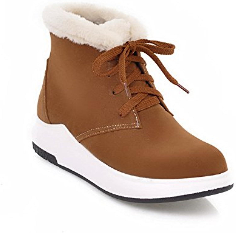 AdeeSu SXC02512 - - - Stivali da Neve da Donna, bordati di Pelliccia e Dotati di Lacci, indicati per Viaggi sulla... | In Linea  4798f8