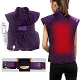 Elektrisches Heizkissen, Nacken-Schulter- und Rücken-Heizkissen, 3-fache Temperatureinstellung und 30-minütige automatische Abschaltung bei Rückenschmerzen, Muskelkater, Stressabbau