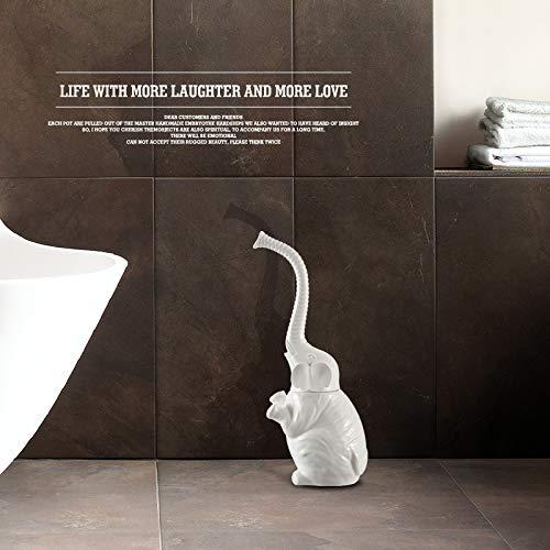 WANDOM Toilet Brush Creative Plastic Soft Bristle Brush to Clean The Toilets and Toilet Brush Toilet Brush Ceramic Toilet Brush Extension Kit White Elephant Plastic HandleY13-DJ3642111110 - Flex Extension Kit