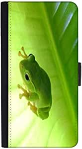 Snoogg Green Frog Designer Protective Phone Flip Back Case Cover For Samsung Galaxy J7 (2016)
