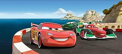 AG Design FTDh 0640 Cars Disney Bergrennen, Papier Fototapete Kinderzimmer - 202x90 cm - 1 Teil, Papier, multicolor, 0,1 x 202 x 90