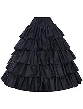 Bbonlinedress Reifrock 4 Ringe 5 Schichten Volant Unterrock Petticoat Underskirt für Hochzeit