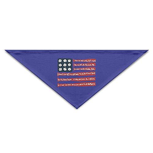Sdltkhy Baseball Flag Pet Scarf, Dog Bandana, Pet Collars, Triangle Neckerchief, Puppy Triangle, Triangle Bibs Scarfs for Dogs & Cats (Jersey Baseball Geburtstag)