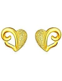 3524847ec102 Beydodo Pendientes Mujer Pendientes Oro Amarillo Pendientes de Mujer  Pendientes Corazón Mate Pendientes