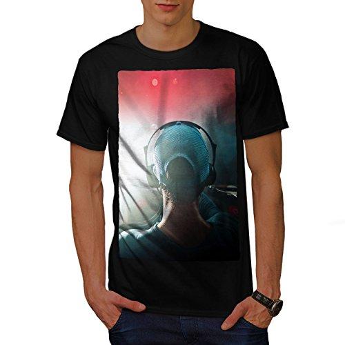 wellcoda Dj Kopfhörer Tanzen Musik Männer L T-Shirt