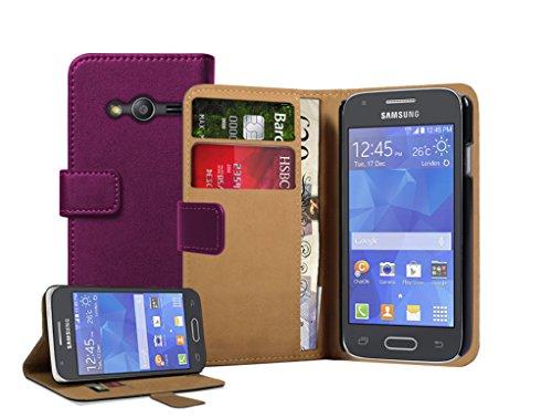 Membrane - Viola Portafoglio Custodia Compatibile con Samsung Galaxy Ace 4 (SM-G357 / G357FZ)