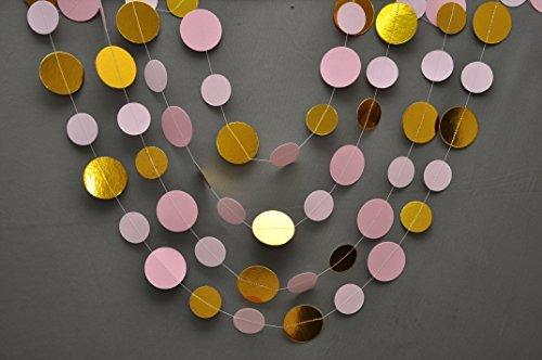 Boston Creative company Bridal Dusche Dekoration, Pink Gold Girlande, gold pink Geburtstag, Girlande, gold Party Decor Decor, Hochzeit Dekoration, Girlande, Papier (Aqua-papier-girlande)