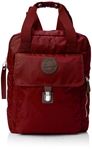 Dr. Martens Unisex-Erwachsene Large Nylon Backpack Rucksack, Rot (Cherry Red), 13x41x30 centimeters Vintage Doc Martens
