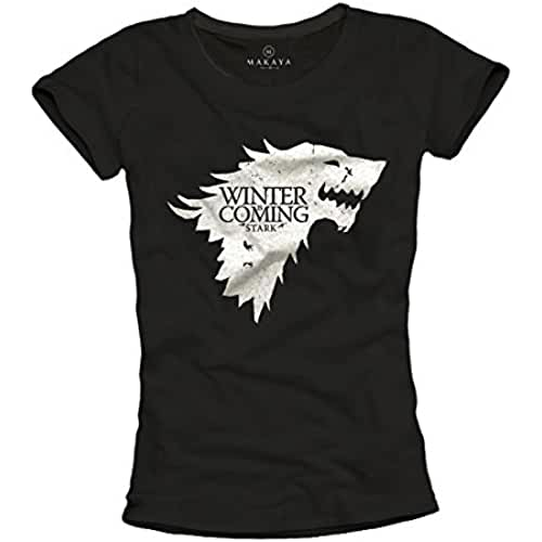 dia del orgullo friki Camiseta negra mujer - WINTER IS COMING STARK