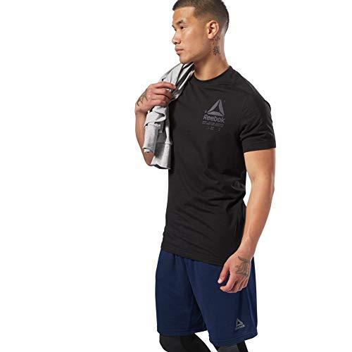 Reebok Speedwick Graphic T T Shirt Uomo Black M