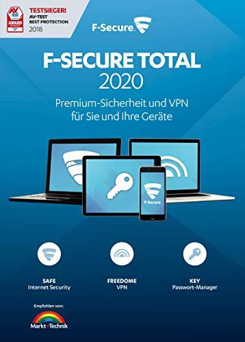 F-Secure Total 2020 Security und VPN - 1 Jahr / 3 Geräte
