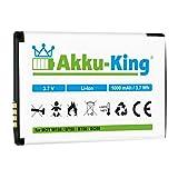 Akku-King Akku ersetzt Motorola BT50, BQ50 - Li-Ion 1000mAh - für W156, W180, W205, W208, W218, W220, W230, W375, W377, W510