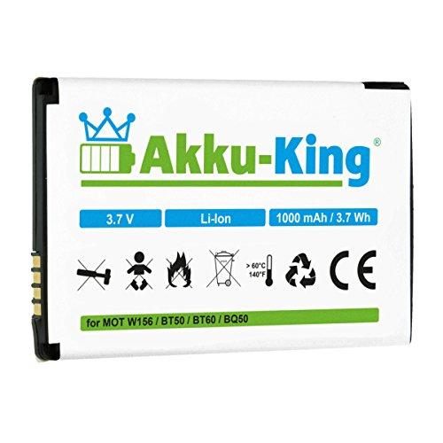 Akku-King Akku kompatibel mit Motorola BT50, BQ50 - Li-Ion 1000mAh - für W156, W180, W205, W208, W218, W220, W230, W375, W377, W510 Nextel Motorola Clutch