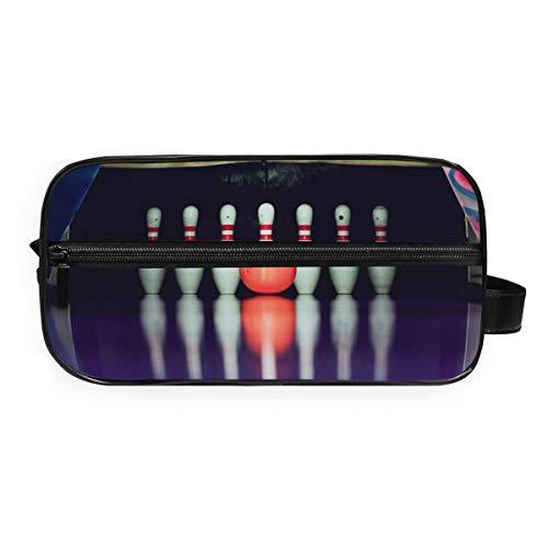 LUPINZ Kosmetiktasche mit Bowlingkugel zum Absturzen von Kosmetiktaschen, Reise-Kulturbeutel, Badezimmer-Aufbewahrungstasche