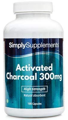 Cárbon activado 300mg - ¡Bote para 3 meses! - Apto para veganos - 180 comprimidos -...