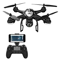 Potensic T18 GPS Drone with Camcorder 1080P HD WiFi FPV RC Remote Control Quadcopter with Wide Angle-adjustable Camera Follow me Altitude Attendance Headless and Control Longer Distance by Potensic