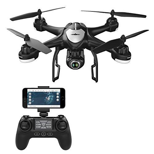 Potensic-GPS-FPV-Drone-T18-avec-Camra-120-Grand-Angle-Rglable-HD-1080P-et-Tlcommande-RC-Quadcopter-WiFi-24Ghz-6-Axe-Gyro-avec-Flips-3D-GPS-Retour–la-Maison-Mode-Sans-Tte-Suivez-moi-Maintien-daltitude