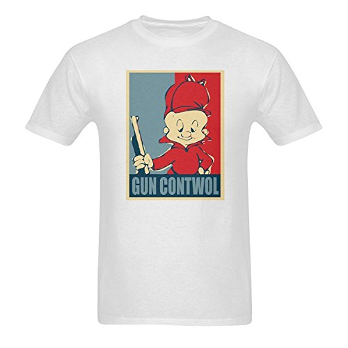 mens-elmer-fudd-pattern-short-sleeve-t-shirts
