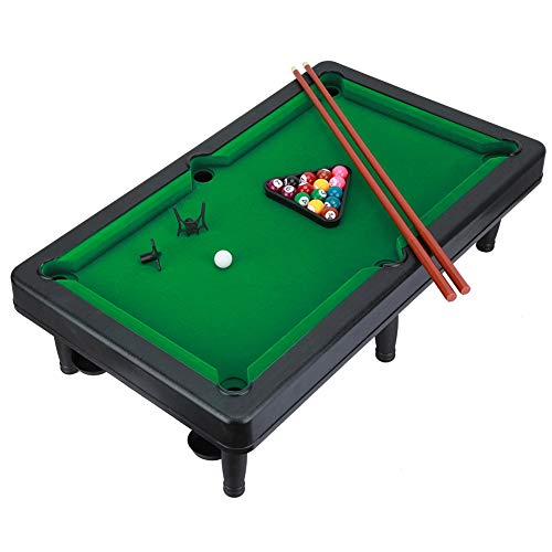 d Tisch Kinder Snooker Pool Spiel Set mit Ball Platten Sticks Rahmen Bars Dreieck Rahmen Full Set ()