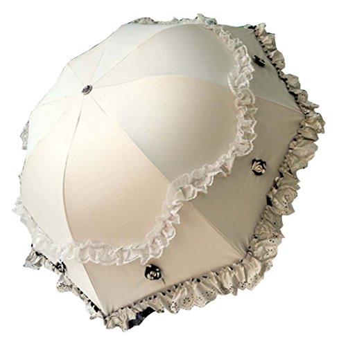 Stereo Vinyl Lace Parasol UV Sunscreen Princesse Parapluie Arc Ensoleillé
