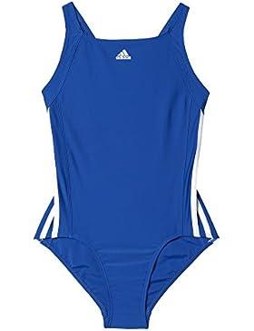 adidas Mädchen Infinitex Essence Core 3-Stripes Badeanzug
