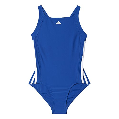 adidas Mädchen Infinitex Essence Core 3-Stripes Badeanzug Collegiate Royal/White 116