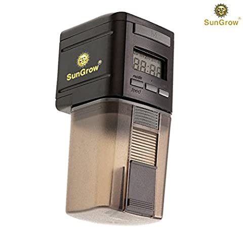 SunGrow Microcomputer Automatic Fish Feeder for Healthy Ornamental Fish - Convenient, Easy To Install on Fish Tanks & Aquariums : Ideal for Everyday Use