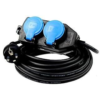 as - Schwabe 860602 Rallonge Quadruplet 250 V/16 A 10 m câble, IP 44 Utilisation: Extérieur