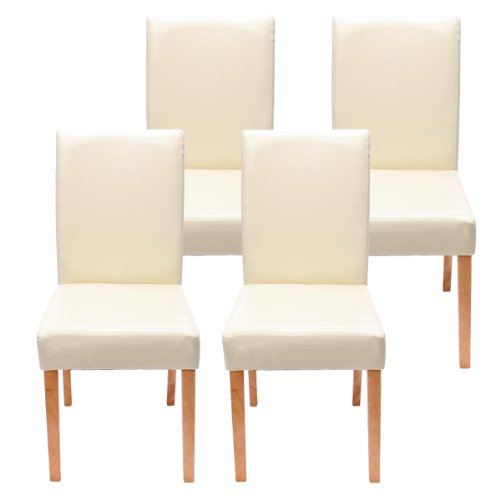 Set 4x sedie Littau ecopelle per sala