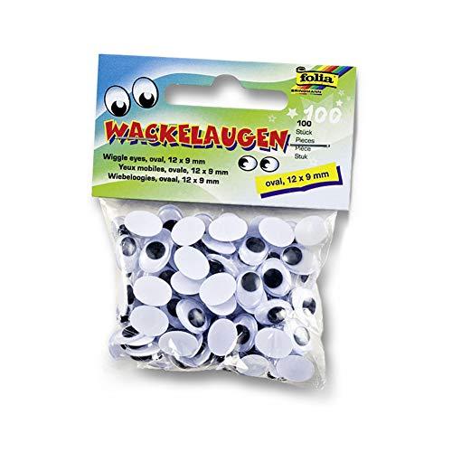 (NaiCasy Mini Wiggle Augen Schwarz Kleine Kunststoff-Runde bewegen Glubschaugen für Kinder Schule Klassenzimmer Arts & Crafts Modelle 100pcs / Pack)