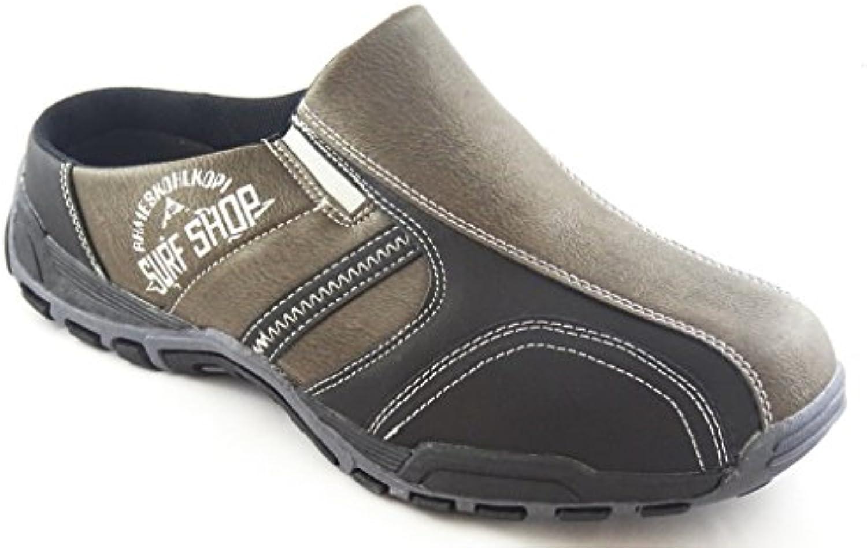 HERREN PANTOLETTE SABOT CLOGS SNEAKER SLIPPER 8721