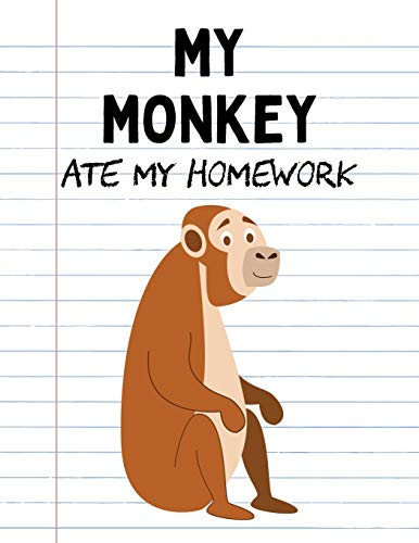 ework: Funny Blank Lined Notebook - Monkey (Cute Novelty Notebooks for School Kids, Band 48) ()