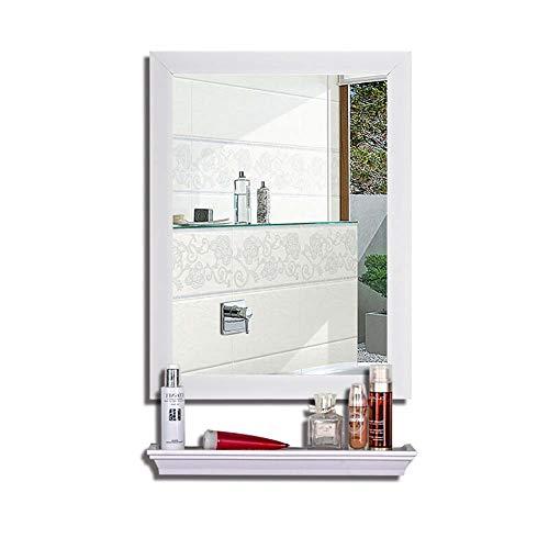 Bathroom mirror specchio specchio del bagno con il bagno della parete della toilette della mensola montaggio a parete preparazione del trucco mensola a specchio + specchio per il trucco 45 * 60 cm