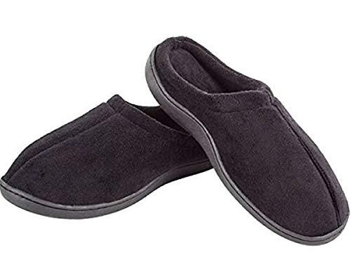 Welzenter Relax, Zapatillas de Estar por casa con talón Abierto Unisex Adulto, (Negro 107), 42-44 EU