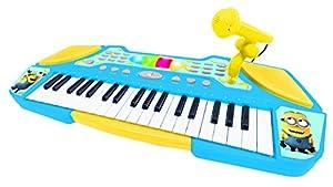 Despicable Me Me- Minions, GRU-Teclado con Micrófono, Instrumento Piano Infantil, a Partir de 3 años (Lexibook K710DES), Color Azul, Amarillo (