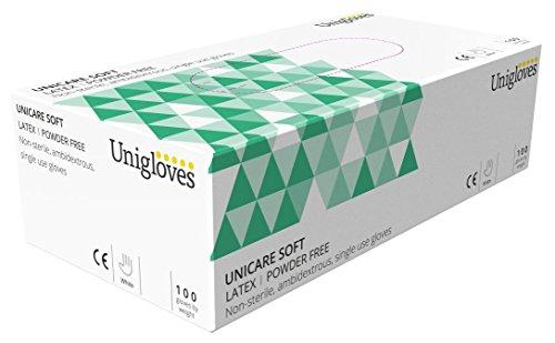 Unigloves UCLPF1204 Latex-Handschuhe, puderfrei, Large, 100 Stück (Latex Verpackt Steril)